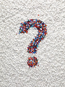 Question Mark Posters - Question Mark Pills Poster by Dwight Eschliman