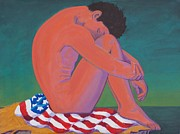 Patriotism Painting Posters - Questioning Patriotism Poster by Frank Strasser