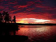 Lake Metal Prints - Quetico Sun Rise Metal Print by Peter  McIntosh