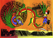 Mayan Mythology Prints - Quetzalcoatl Print by David Dionisio