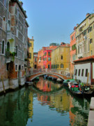 Venice Photo Framed Prints - Quiet Canal Framed Print by Leslie Brashear