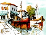 Tall Ships Prints - Quiet corner on the Med Print by Steven Ponsford