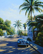 Chevrolet Painting Metal Prints - Quiet Day Key West Metal Print by Frank Dalton