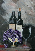 Wine Glasses Painting Originals - Quiet Evening by Robin Lee