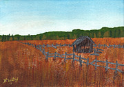 Shed Painting Prints - Quiet Fields  Print by Bonnie Wilson