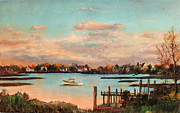 Quietude Paintings - Quiet Harbor by Robert Harvey
