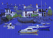 Chimneys Drawings Prints - Quiet Harbour Print by Lynn Blake-John