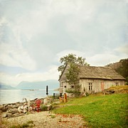 Sonya Kanelstrand Prints - Quiet houses of the fjords Print by Sonya Kanelstrand