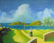 Yellow Sailboats Originals - Quiet Lagoon by Chris Boone