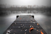 Landing Stage Prints - Quiet Lake Print by Marc Huebner