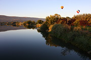 Prosser Balloon Rally Prints - Quiet Morning Ride Print by Carol Groenen