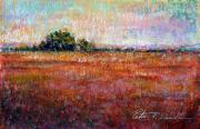 Seashore Pastels Prints - Quiet Over the Field Print by Peter R Davidson