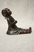 Child Sculpture Reliefs - Quiet Praise by Tomi LaPierre