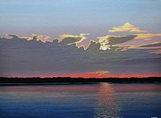 Clouds Sunset Painting Prints - Quiet Reflection II Print by Kenneth M  Kirsch