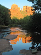Oak Creek Prints - Quiet Reflections Print by Sandy Tracey