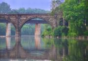 Schuylkill Digital Art Prints - Quiet River Print by Bill Cannon