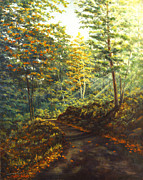 New Hampshire Artist Prints - Quiet Road III Print by Elaine Farmer