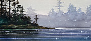 Landscape Greeting Card Painting Originals - Quiet Shore by James Williamson