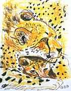 Cheetah Pastels - Quiet Spot by George I Perez