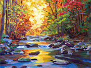Plein Air Metal Prints - Quiet Stream Metal Print by David Lloyd Glover
