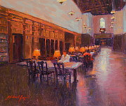 Library Painting Originals - Quiet Study by Michael Besoli