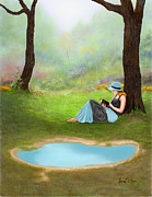Country Scenes Digital Art Acrylic Prints - Quiet Time Acrylic Print by Sena Wilson