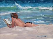 Topless Paintings - Quiet Time Two by Laura Lee Zanghetti