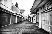 Seaside Heights Prints - Quiet Walk Print by John Rizzuto