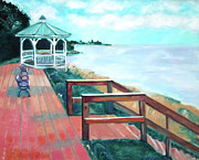 Fineartamerica.com Paintings - Quiet Waters Park by Karen Francis