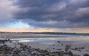 York Beach Photo Metal Prints - Quiet Winter Day at York Beach Metal Print by John Burk