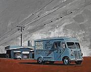 Route 66 Paintings - Quik Smog by Steve Beaumont