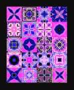Quilt Blue Blocks Prints - Quilt Blocks Print by Methune Hively