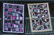 Patchwork Quilts Framed Prints - Quilt Show 6 Framed Print by Patrice Geist