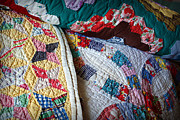 Colorful Quilts Posters - Quilted Comfort Poster by Cricket Hackmann