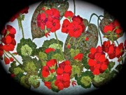 Quilts Photos - Quilted Flowers by Randy Rosenberger