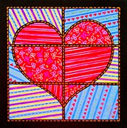 Stitching Paintings - Quilted Heart by Jim Harris