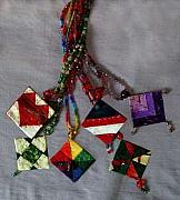 Unique Necklace Jewelry Originals - Quilted Necklaces by Pam Geisel