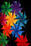 Quilts Photos - Quilted Pinwheels by Sharon Blanchard