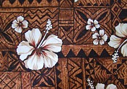 Kapa Prints - Quilted Tapa Wall Hanging - 1 Print by Mary Deal