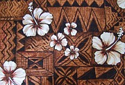 Kapa Prints - Quilted Tapa Wall Hanging - 2 Print by Mary Deal