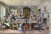 18th Century Prints - Quilting Bee Print by Granger