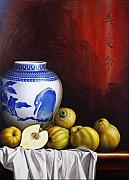 Cloth Painting Posters - Quinces Poster by Horacio Cardozo