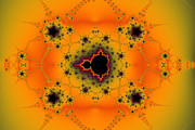 Mandelbrot Prints - Quincunx 2 Print by Mark Eggleston