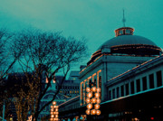 Quincy Market Photos - Quincy Market Evening by Laurie Breton