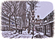 Quincy Market Photos - Quincy Market Holiday by Joann Vitali