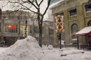 Quincy Market Photos - Quincy Snow by Joann Vitali