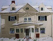Snow Pastels - Quincy Street by Mary Capriole