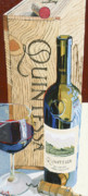 Wine Oil Posters - Quintessa Poster by Christopher Mize