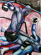 Ultimate Fighting Championship Prints - Quinton Jackson vs. Chuck Lidell Print by Michael Cook