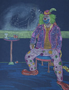 Drunk Drawings Originals - Quit Clowning Around by Michael Mooney